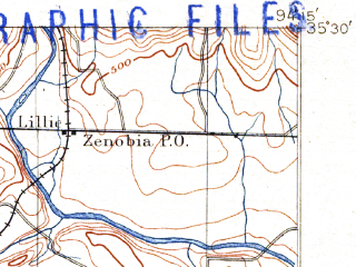 Reduced fragment of topographic map en--usgs--063k--064032--(1887)--N035-30_W094-30--N035-15_W094-15 in area of Hollis Lake; towns and cities Fort Smith, Van Buren, Arkoma, Barling, Moffett