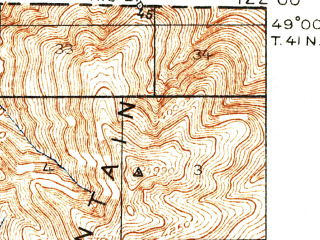 Reduced fragment of topographic map en--usgs--063k--064039--(1919)--N049-00_W122-15--N048-45_W122-00