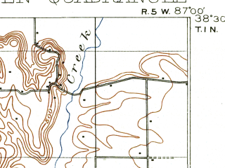 Reduced fragment of topographic map en--usgs--063k--064063--(1903)--N038-30_W087-15--N038-15_W087-00; towns and cities Winslow