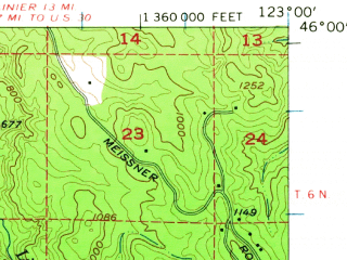 Reduced fragment of topographic map en--usgs--063k--064080--(1955)--N046-00_W123-15--N045-45_W123-00; towns and cities Vernonia
