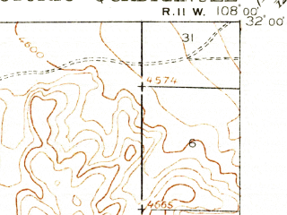 Reduced fragment of topographic map en--usgs--063k--064094--(1918)--N032-00_W108-15--N031-45_W108-00