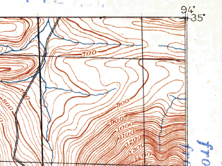 Reduced fragment of topographic map en--usgs--063k--064189--(1887)--N035-00_W094-15--N034-45_W094-00; towns and cities Waldron