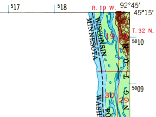 Reduced fragment of topographic map en--usgs--063k--064260--(1948)--N045-15_W093-00--N045-00_W092-45 in area of Big Marine Lake, White Bear Lake; towns and cities North St. Paul, Stillwater, Mahtomedi, Marine On St. Croix, Oak Park Heights