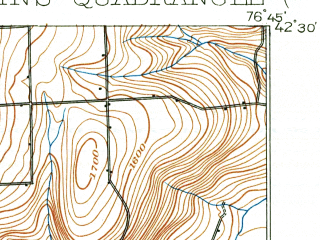 Reduced fragment of topographic map en--usgs--063k--064288--(1901)--N042-30_W077-00--N042-15_W076-45; towns and cities Burdett, Millport, Montour Falls