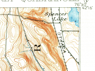 Reduced fragment of topographic map en--usgs--063k--064315--(1902)--N042-15_W076-45--N042-00_W076-30; towns and cities Van Etten, Waverly, Wellsburg