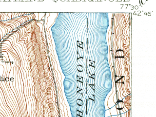 Reduced fragment of topographic map en--usgs--063k--064323--(1902)--N042-45_W077-45--N042-30_W077-30 in area of Candice Lake; towns and cities Dansville, Wayland