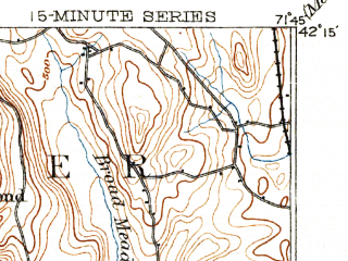 Reduced fragment of topographic map en--usgs--063k--064350--(1892)--N042-15_W072-00--N042-00_W071-45 in area of Lake Chaubunagungamaug; towns and cities Webster, Oxford, Spencer, Quinebaug