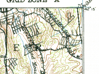 Reduced fragment of topographic map en--usgs--063k--064350--(1921)--N042-15_W072-00--N042-00_W071-45 in area of Lake Chaubunagungamaug; towns and cities Webster, Oxford, Spencer, Quinebaug