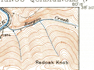 Reduced fragment of topographic map en--usgs--063k--064353--(1918)--N038-30_W080-30--N038-15_W080-15; towns and cities Addison (webster Springs)