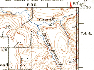 Reduced fragment of topographic map en--usgs--063k--064356--(1943)--N030-30_W088-00--N030-15_W087-45; towns and cities Point Clear