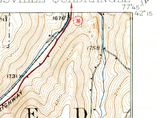 Reduced fragment of topographic map en--usgs--063k--064379--(1926)--N042-15_W078-00--N042-00_W077-45; towns and cities Wellsville, Andover, Stannards
