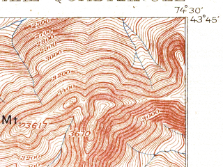 Reduced fragment of topographic map en--usgs--063k--064401--(1900)--N043-45_W074-45--N043-30_W074-30 in area of West Canada Lake