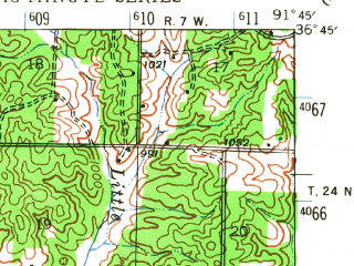Reduced fragment of topographic map en--usgs--063k--064414--(1944)--N036-45_W092-00--N036-30_W091-45; towns and cities West Plains