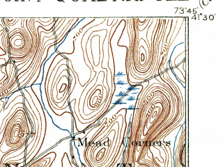 Reduced fragment of topographic map en--usgs--063k--064416--(1901)--N041-30_W074-00--N041-15_W073-45; towns and cities Peekskill, Jefferson Valley-yorktown, West Point, Yorktown Heights, Nelsonville