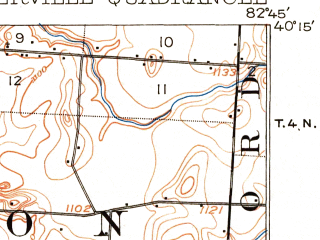 Reduced fragment of topographic map en--usgs--063k--064428--(1904)--N040-15_W083-00--N040-00_W082-45 in area of Hoover Reservoir; towns and cities Westerville, Gahanna, Huber Ridge, Summit Station, Sunbury
