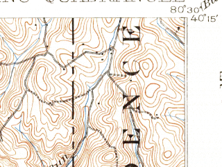 Reduced fragment of topographic map en--usgs--063k--064458--(1902)--N040-15_W080-45--N040-00_W080-30; towns and cities Wheeling, Bellaire, Martins Ferry, Rayland, Tiltonsville