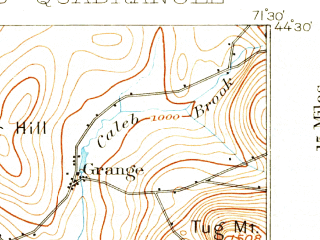 Reduced fragment of topographic map en--usgs--063k--064492--(1900)--N044-30_W071-45--N044-15_W071-30; towns and cities Lancaster, Whitefield
