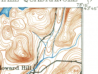 Reduced fragment of topographic map en--usgs--063k--064493--(1893)--N043-45_W073-30--N043-30_W073-15; towns and cities Fair Haven, Whitehall