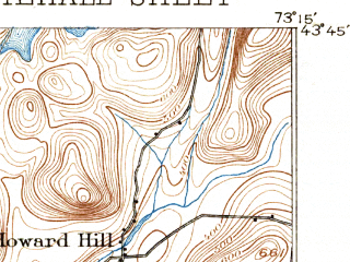 Reduced fragment of topographic map en--usgs--063k--064493--(1895)--N043-45_W073-30--N043-30_W073-15; towns and cities Fair Haven, Whitehall