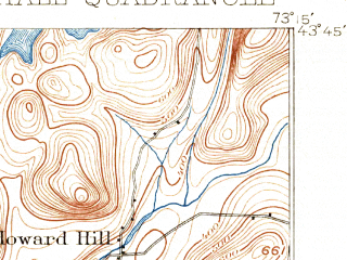 Reduced fragment of topographic map en--usgs--063k--064493--(1898)--N043-45_W073-30--N043-30_W073-15; towns and cities Fair Haven, Whitehall