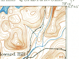 Reduced fragment of topographic map en--usgs--063k--064493--(1902)--N043-45_W073-30--N043-30_W073-15; towns and cities Fair Haven, Whitehall