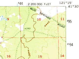 Reduced fragment of topographic map en--usgs--063k--064495--(1962)--N041-30_W121-30--N041-15_W121-15 in area of Egg Lake, Whitehorse Flat Reservoir