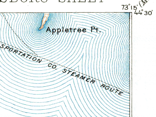 Reduced fragment of topographic map en--usgs--063k--064583--(1895)--N044-30_W073-30--N044-15_W073-15