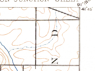 Reduced fragment of topographic map en--usgs--063k--064601--(1891)--N041-45_W091-15--N041-30_W091-00; towns and cities Atalissa, Wilton