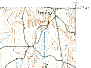 Reduced fragment of topographic map en--usgs--063k--064605--(1890)--N042-45_W072-15--N042-30_W072-00; towns and cities Athol, Baldwinville, Winchendon