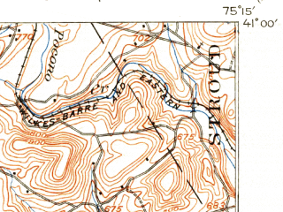 Reduced fragment of topographic map en--usgs--063k--064612--(1914)--N041-00_W075-30--N040-45_W075-15; towns and cities Pen Argyl, Stockertown, Wind Gap