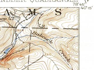 Reduced fragment of topographic map en--usgs--063k--064614--(1916)--N040-15_W079-00--N040-00_W078-45 in area of Indian Lake, Quemahoning Reservoir; towns and cities Davidsville, Hooversville, Indian Lake