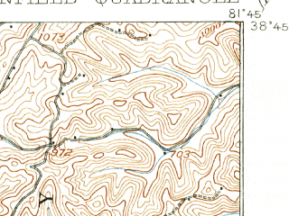 Reduced fragment of topographic map en--usgs--063k--064621--(1908)--N038-45_W082-00--N038-30_W081-45; towns and cities Bancroft, Buffalo, Eleanor