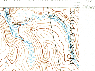Reduced fragment of topographic map en--usgs--063k--064627--(1920)--N045-30_W068-30--N045-15_W068-15 in area of Long Pond, Upper Cold Stream Ponds, Madagascal Pond; towns and cities Lincoln