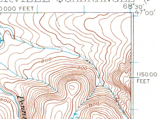 Reduced fragment of topographic map en--usgs--063k--064651--(1928)--N047-00_W068-45--N046-45_W068-30