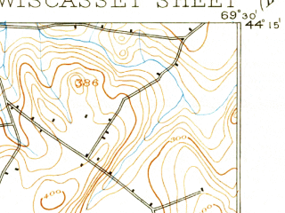Reduced fragment of topographic map en--usgs--063k--064655--(1893)--N044-15_W069-45--N044-00_W069-30; towns and cities Damariscotta, Wiscasset