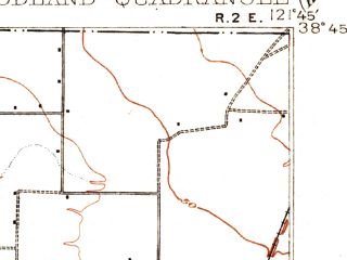 Reduced fragment of topographic map en--usgs--063k--064703--(1907)--N038-45_W122-00--N038-30_W121-45; towns and cities Woodland, Winters