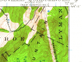 Reduced fragment of topographic map en--usgs--063k--064713--(1935)--N044-15_W072-15--N044-00_W072-00; towns and cities Woodsville, Newbury, Wells River