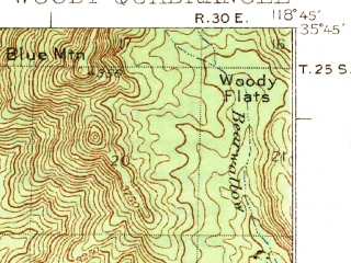 Reduced fragment of topographic map en--usgs--063k--064721--(1935)--N035-45_W119-00--N035-30_W118-45