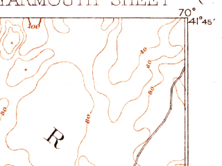 Reduced fragment of topographic map en--usgs--063k--064782--(1893)--N041-45_W070-15--N041-30_W070-00; towns and cities South Yarmouth, West Yarmouth, Harwich Port, Northwest Harwich, South Dennis