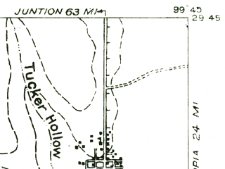 Reduced fragment of topographic map en--usgs--063k--064802--(1957)--N029-45_W100-00--N029-30_W099-45; towns and cities Leakey