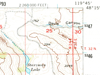 Reduced fragment of topographic map en--usgs--063k--072709--(1957)--N048-15_W120-00--N048-00_W119-45; towns and cities Brewster, Pateros