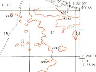 Reduced fragment of topographic map en--usgs--063k--072730--(1939)--N040-55_W118-15--N040-40_W118-00