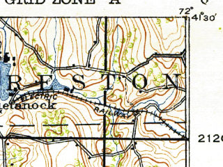 Reduced fragment of topographic map en--usgs--063k--072757--(1921)--N041-30_W072-15--N041-15_W072-00; towns and cities New London, Conning Towers-nautilus Park, Groton, Niantic, Poquonock Bridge