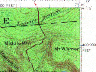Reduced fragment of topographic map en--usgs--063k--072768--(1921)--N041-15_W075-30--N041-00_W075-15; towns and cities Mount Pocono, Mountainhome, Pocono Pines