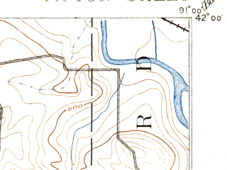 Reduced fragment of topographic map en--usgs--063k--072791--(1889)--N042-00_W091-15--N041-45_W091-00; towns and cities Clarence, Olin, Stanwood