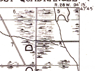 Reduced fragment of topographic map en--usgs--063k--320635--(1919)--N047-45_W094-30--N047-30_W094-15