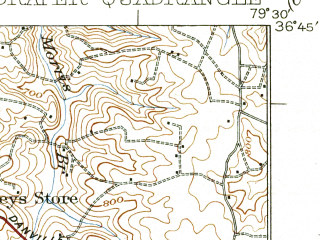Reduced fragment of topographic map en--usgs--063k--320818--(1926)--N036-45_W079-45--N036-30_W079-30; towns and cities Eden