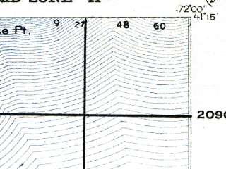 Reduced fragment of topographic map en--usgs--063k--396028--(1921)--N041-15_W072-15--N041-00_W072-00; towns and cities Northwest Harbor, Springs