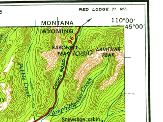 Download topographic map in area of West Yellowstone Island Park