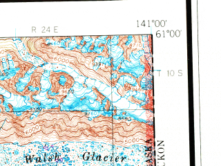 Reduced fragment of topographic map en--usgs--250k--068671--(1959)--N061-00_W144-00--N060-00_W141-00 in area of Seal, Kaliakh, North Fork Bremmer